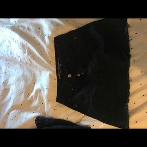 NWT AE black jean skirt